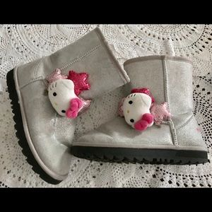 Other - HELLO KITTY SILVER SPARKLY BOOTS